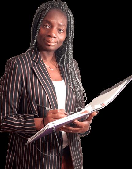 Mavis with coaching folder